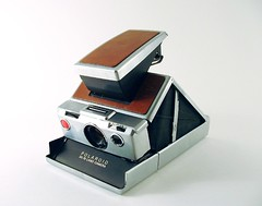 Polaroid SX-70 (catscape) Tags: camera leather polaroid sx70 chrome fold instantcamera folding landcamera catscape