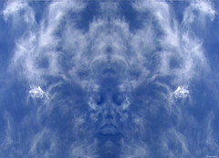 Spirit in the Sky (nomm de photo) Tags: face clouds photoshopped mirrored digitallyaltered reinnomm availableforpurchase abigfave availableforlicensing