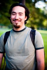 Luis Montemayor - Smiling (Luis Montemayor) Tags: park parque portrait verde green me smile retrato sonrisa luismontemayor bokehsoniceaugust bokehsoniceaugust11