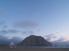 morro rock and lifeguard tower (MistyDays / CB) Tags: ocean california beach coast pacificocean coastline morrobay centralcoast morrorock lifeguardtower charleneburge stormygirl