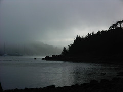 Into the Light (Rexton) Tags: mist water silhouette fog club novascotia arm northwest yacht inlet northwestarm
