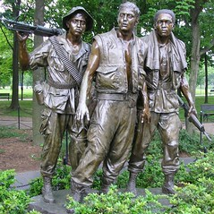 Three Soldiers at Vietnam War Memorial