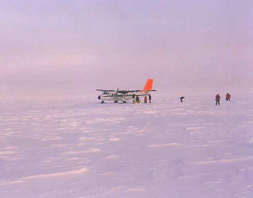 Flying to North Pole