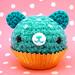 Amigurumi Blue Cupcake bear
