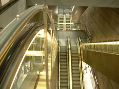 Danish metro escalators (Bjrn Sderqvist) Tags: city copenhagen denmark lights glow metro escalators movingstaircase