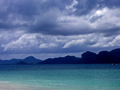 2006-08-15 137e (megabn) Tags: ocean blue sky beach water clouds thailand turquoise krabi raileybeach railey