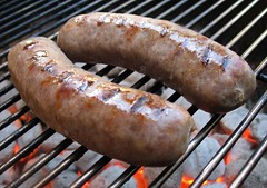 Brats (.michael.newman.) Tags: cooking wisconsin grate sausage meat grill pork charcoal bratwurst brat johnsonville