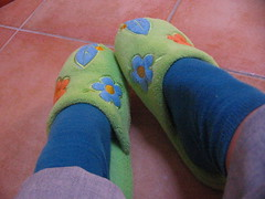 New shoes (eli) Tags: flowers colors socks shoes 2006 slippers