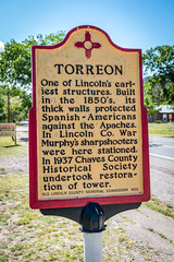 The Torreon Information (Serendigity) Tags: lincoln newmexico usa unitedstates sign historic town wildwest