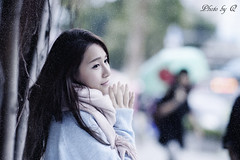 寒いですね.......... It's so cold.......... (SU QING YUAN) Tags: model beauty beautiful girl face hair eye cold snow winter taiwan cute pretty a99 135za sonnart18135 zeiss portrait bestportraitsaoi