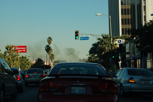 Smoke Rises Above Ventura Blvd.