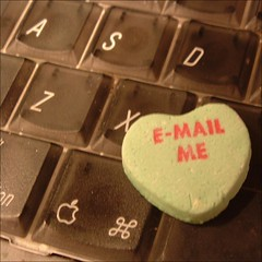 candy heart on keyboard