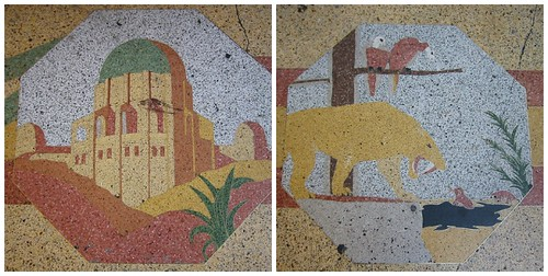 Tiles in front of Clifton's Cafeteria