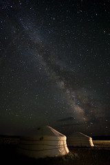 The Milky Way (the bbp) Tags: sky night clouds dark stars nuvole darkness tent mongolia cielo notte buio ger stelle milkyway scuro startrail tende oscurità thebbp vialattea