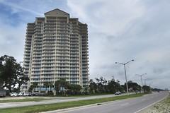 Highway 90 along the Gulf (Mr Imperfection) Tags: homes beach gulfofmexico architecture mississippi highrise biloxi condos condominiums gulfport gulfcoast highway90