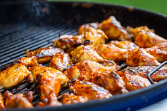 Grilled Chicken Wings (Another Pint Please...) Tags: chicken beer wings buffalo sauce meat grill kettle alcohol poultry weber
