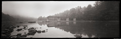 Bridge in Fog (DRCPhoto) Tags: film pinhole westvirginia kodakbw400cn cheatriver albright lenslessphotography blindwino