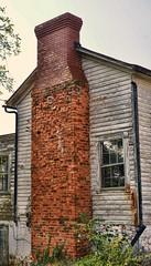 Crumbling Brickwork (creepingvinesimages) Tags: chimney brick abandoned virginia nikon madison ruraldecay smalltown topaz weatheredsiding d7000 pse11