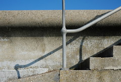 Steps (Claire_Sambrook) Tags: blue sky concrete shadows steps line portsmouth railing shape