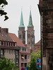 View to spires of St. Sebald Church, Nuremberg, Germany (Paul McClure DC) Tags: church architecture germany bayern deutschland bavaria nuremberg franconia historic franken nürnberg may2015