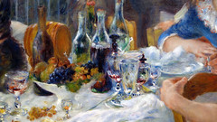 Renoir, Luncheon of the Boating Party, still life