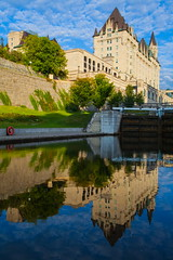 Chateau Laurier (stevenbulman44) Tags: summer holiday color reflection building architecture canon landscape ottawa structure chateau laurier fairmont 1740f40l