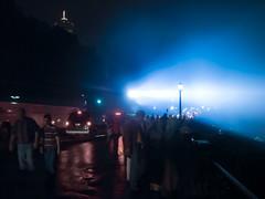 Niagara Falls Night Lights 2007 (Harold Brown) Tags: travel summer sky people canada night niagarafalls outdoor nightsky skylontower sonydsch5 haroldbrown bhagavideocom