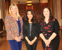 Nicola Bothwell and Christine Watson with Mariele De Guzman