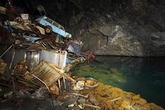 Cavern of Lost Souls (scrappy nw) Tags: uk abandoned car canon underground rust mine decay dump forgotten urbanexploration scrapyard rotten scrap oldcars derelict urbanexploring ue carmine urbex scrappy canon600d scrappynw cavernoflostsouls