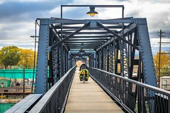 Railroad pedestrian bridge in Laramie, WY.