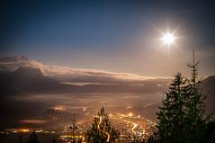 Moon-Sun (DaOpfer) Tags: longexposure red moon pentax outdoor himmel wolke lunar wank garmisch garmischpartenkirchen lunareclipse mondfinsternis zugspitze langzeitbelichtung partenkirchen k7 fluffyclouds sigma30mmf14exdchsm mittelstation blutmond deinbayern