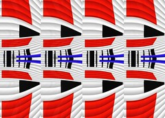 Tuesday By Design 2 (Joe Vance aka oliver.odd - running in Safe Mode) Tags: blue red white abstract black art geometric digital chaos artistic manipulation spinners