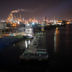 A Night At The Dock (OneEighteen) Tags: night port harbor lowlight marine houston terminal maritime tug nautical barge navigation channel navigate moored oneeighteen houstonshipchannel louvest