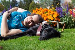Guide Dog (Luna Lupin) Tags: dog black lab university nap time duty relaxing quad off guide henna gonzaga herak