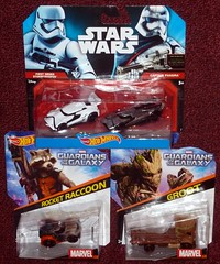 Hot Wheels - Purchases (Darth Ray) Tags: hot star order wheels first galaxy captain stormtrooper rocket wars raccoon mattel guardians groot phasma guardiansofthegalaxy