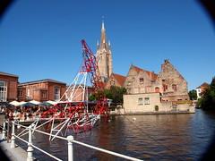 Belgium (Jokin-Florin Reguerio (JFR)) Tags: travel rio river photo belgium belgique picture iglesia electricity belgica brugges