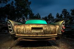 Beaver State Blues (dejavue.us) Tags: light moon night painting de photography nikon full junkyard mm nikkor soto desoto fins d800 f3545 vle 180350