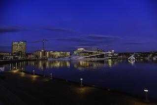 Oslo Opera house and Barcode