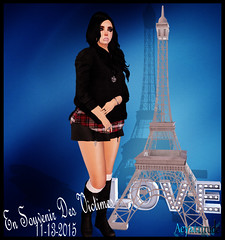 en souvenir des victimes.... (aeyanna.attitude) Tags: new blue black paris france love silver hair necklace sweater shoes tears sad heart mesh skin boots body events eiffeltower jewelry eiffel blueberry rings lara tragedy amelie rememberance mascara folded void swish cry plaid skirts victims ane lorie cathair ison meva maitreya essences izzies followus meshbody lovetower lelutka leatherkneeboots aeyattitude angelheartnecklace foldedskirts woolsidecutsweater imnotfeelingverywell4