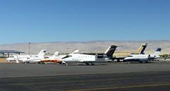 Biz-Jet Cluster at Palm Springs (2) - 14 November 2015 (John Oram) Tags: psp palmsprings md87 cessna560xl cl60 h25b c56x vpcni kpsp cgbkb hawkerbeechcraft900xp canadaircl605challenger canadaircl601challenger n957dp cglsw 2002p1070992c n106sj n100zt