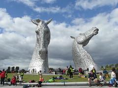 Watching the children (bryanilona) Tags: scotland tourists falkirk damncool citrit thekelpies