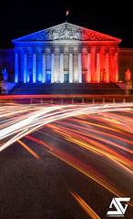 Patriote (A.G. Photographe) Tags: longexposure paris france french nikon europe illumination ag capitale nikkor parlement franais parisian anto tricolore xiii parisien 2470 palaisbourbon assemblenationale patriote d810 patriotique antoxiii agphotographe jesuisparis