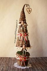 Alberello di Natale_13w (Morgana209) Tags: christmas tree handmade albero renna creatività alberello gessetti cannuccie natale2015