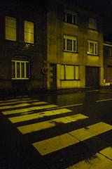 Soir pisseux jauntre (Jean-Luc Lopoldi) Tags: street windows maisons pluie nobody passage soir rue zebracrossing dsert fentres streetlighting moche clairagepublic