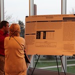 Student presents his Criminal Justice research.