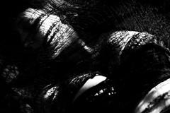 Pericardium III (SkylerBrown) Tags: lighting blackandwhite woman sexy girl dark blackwhite pretty noir shadows boobs web gothic dramatic creepy fabric