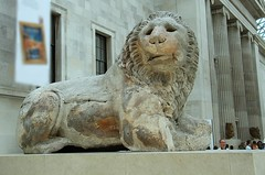 The Lion of Knidos (praja38) Tags: england london art history statue museum court turkey greek hall carved eyes ancient britain lion culture humour historic greece bigcat british marble britishmuseum recumbent colossal datca capricorn inlaid asiaminor knidos lionofknidos