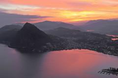 Sunset over Lugano... (Alex Switzerland) Tags: sunset canon lago eos schweiz switzerland tessin soleil ticino tramonto sonnenuntergang suisse coucher bre du svizzera lugano 6d luganese ceresio luganersee