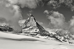 The Matterhorn , the Symbol of Switzerland. a view from the train to Gornergrat from Zermatt .No, 4213. (Izakigur) Tags: liberty izakigur flickr feel europe europa dieschweiz ch helvetia lasuisse musictomyeyes nikkor nikon suiza suisse suisia schweiz romandie suizo swiss svizzera سويسرا laventuresuisse switzerland schwyz winter snow neige wham schnee train topf25 topf600 100faves 200faves 250faves 500faves wow
