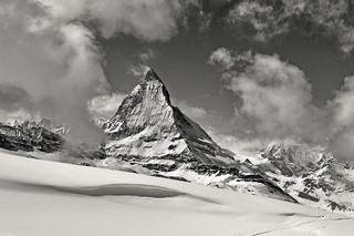The Matterhorn , the Symbol of Switzerland. a view from the train to Gornergrat from Zermatt .No, 4213.